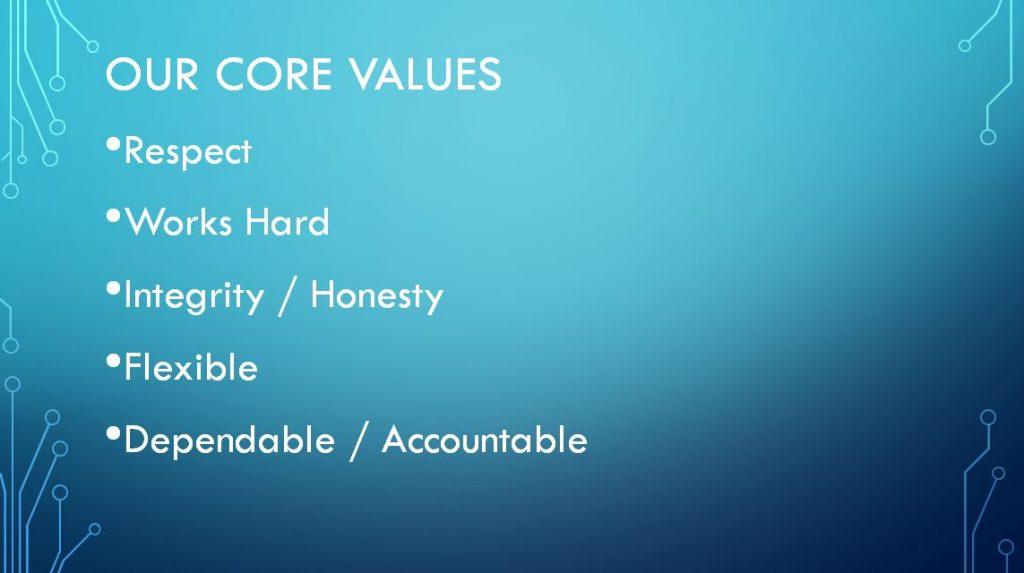 QM Core Values