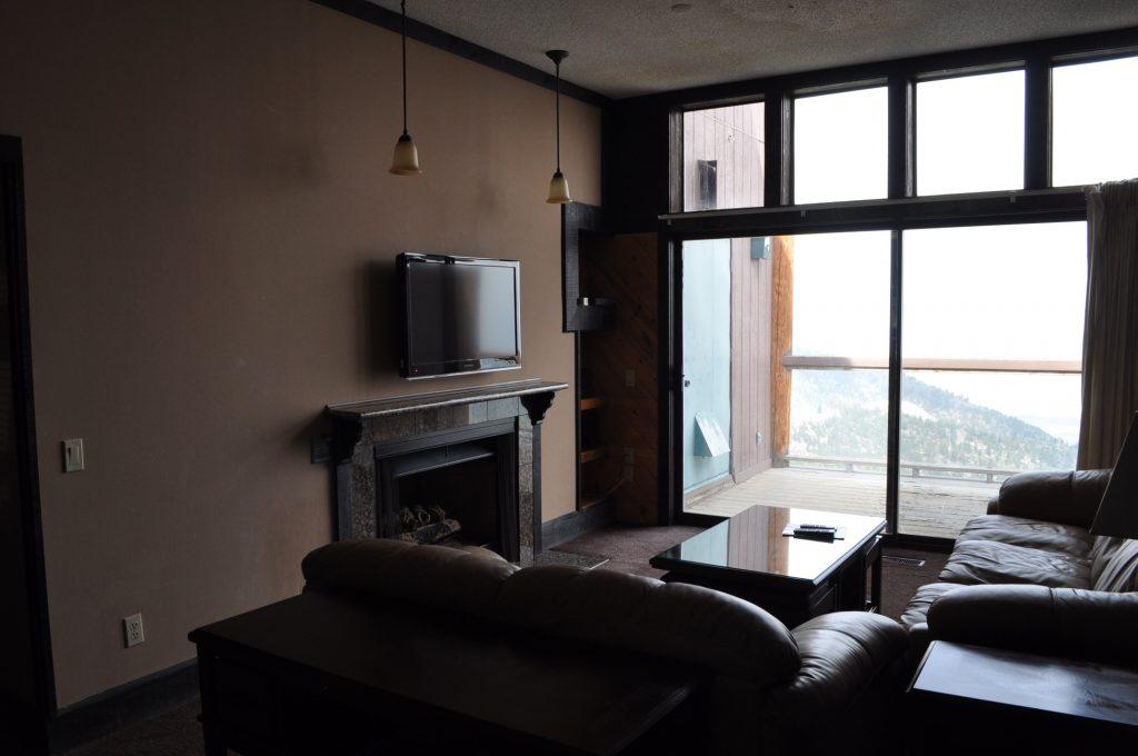Condominium Living Room Patio View